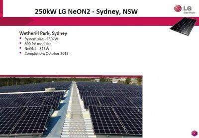 Pacific Solar - 250kW LG NeON2 – Sydney NSW