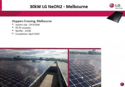 Pacific Solar - 30kW LG NeON2, Melbourne