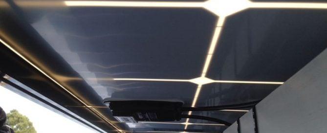 Solar installation on metal - tin foot