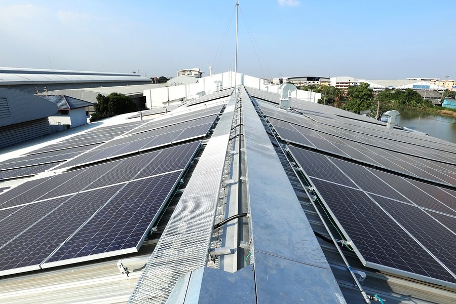 Commercial solar installation warehouse Melbourne
